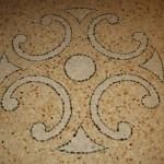 Immagine che ritrae il disegno centrale della decorazione sul pavimento alla veneziana eseguito a San Bonifacio in provincia di Verona
