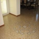 Immagine che ritrae una decorazione su pavimento alla veneziana eseguito a San Bonifacio in provincia di Verona