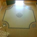 Pavimento alla veneziana dell'ingresso in una villa realizzato a Vicenza