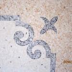 Immagine che ritrae una decorazione tradizionale su pavimento alla veneziana a Padova